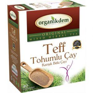 Organikdem Teff Tohumlu Bitkisel Çay 40 Süzen Poşet