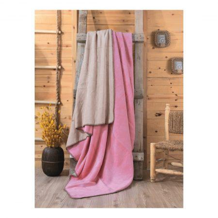 بطانية مزدوجة – وردي و بيج