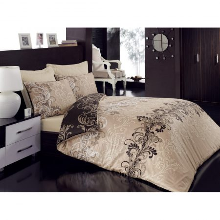 طقم غطاء سرير مزدوج – بيج