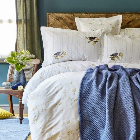 بطانية مزدوجة منقشة – ازرق