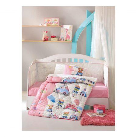 طقم لحاف سرير بيبي يناتي مع رسومات