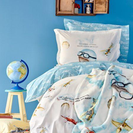بطانية سرير اطفال مفردة برسومات