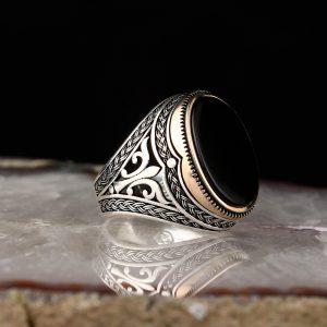 Turkish Silver Ring (Aqiq Yamani)