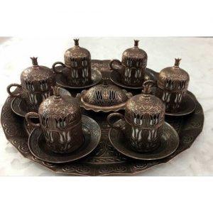 طقم قهوة من النحاس (6 شخص)