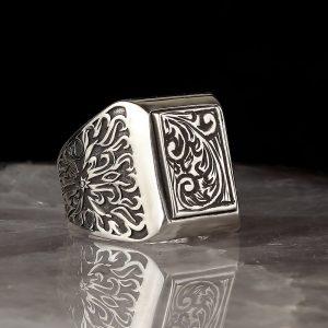 Turkish handmade silver ring