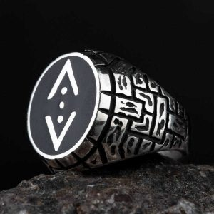 خاتم الحفرة بالمينا